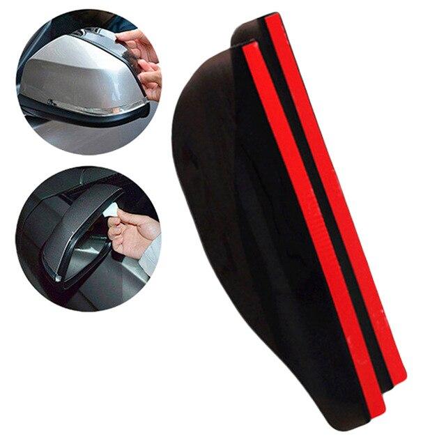 2 sztuk pcv lusterko wsteczne samochodu naklejki deszcz brwi Auto boczne lustro deszcz deska tarcza cień śnieg osłona Protector