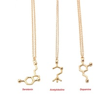 2016 New Fashion Acetylcholine Molecular Necklace Molecule font b Science b font Chemical Jewelry Eternal Memory