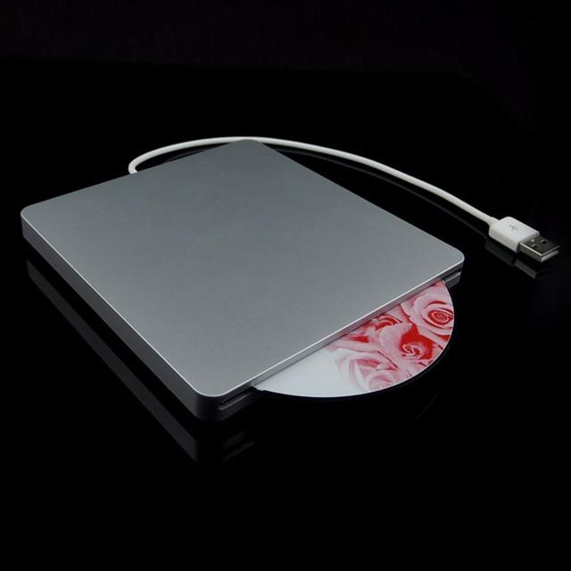 Notebook Tipo de Sucção Super Slim USB 2.0 Slot Em DVD RW Gravador de DVD Gravador de DVD Externo Caixa de Unidades Externas
