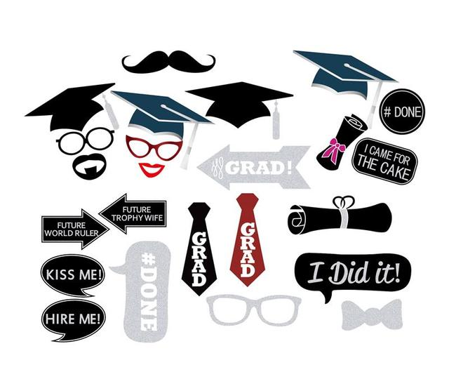 Happy Graduation Theme Decorations Ms Mr Diy Photo Booth Props Congrats Grad Photobooth Props Party Supplies Pz099 Photobooth Props Aliexpress