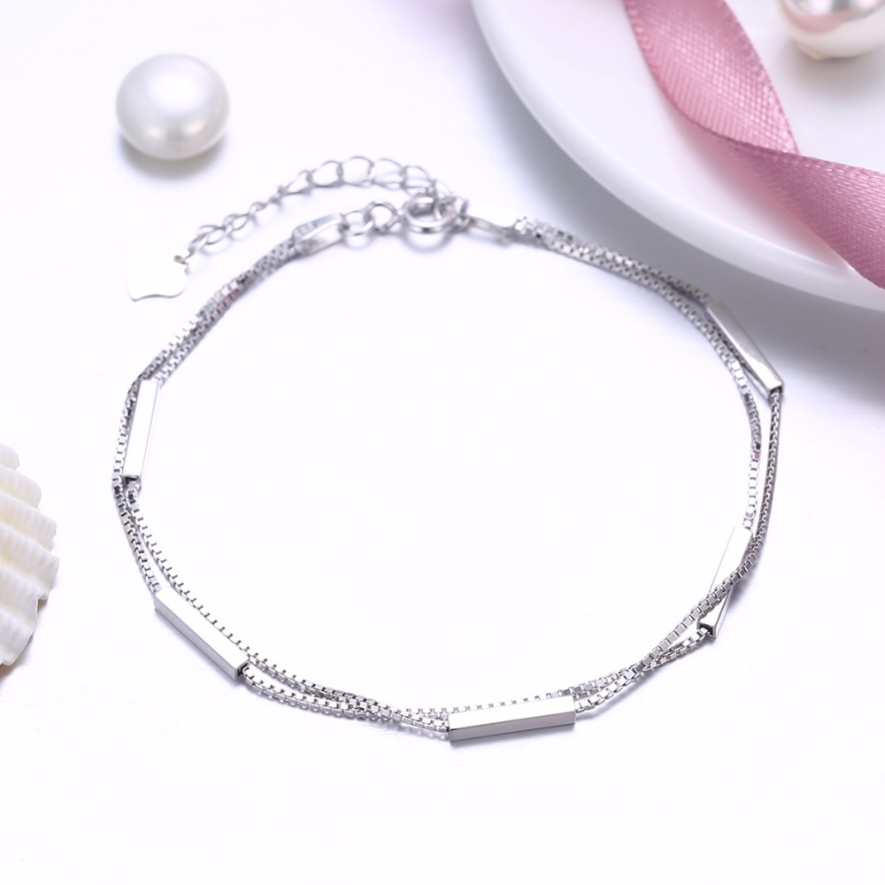 Fine Anklets Fine Jewelry Gold Three Mix Rows Bar Chains Body Chain Anklet 925 Sterling Silver Warm And Windproof