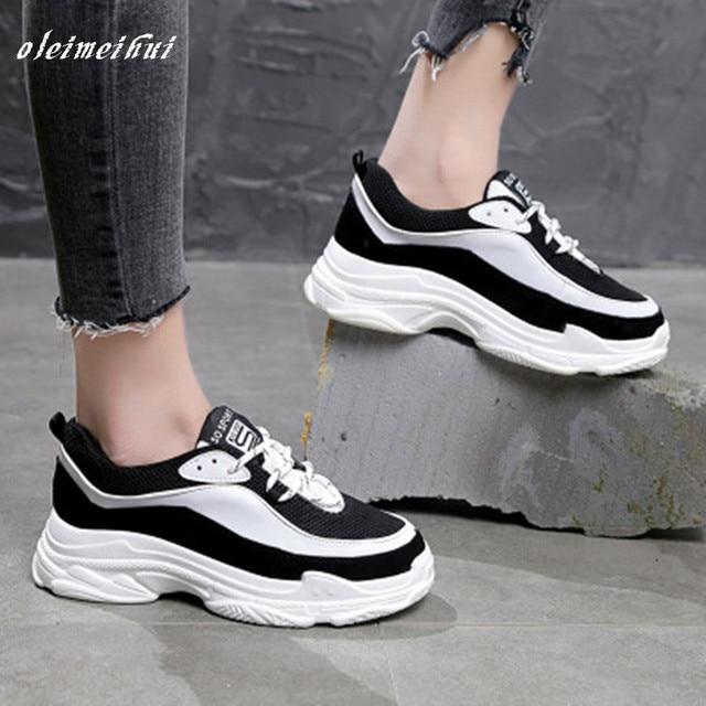 2018 primavera nueva marca de moda de señora zapatos vulcanizados  ocasionales Mujer Zapatos pu cuero niña 8754339a0abb