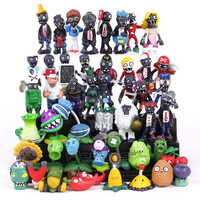 Hot Sale! New Popular Game PVZ Plants vs Zombies PVC Figures Collectible Model Toys Gifts 48pcs/lot