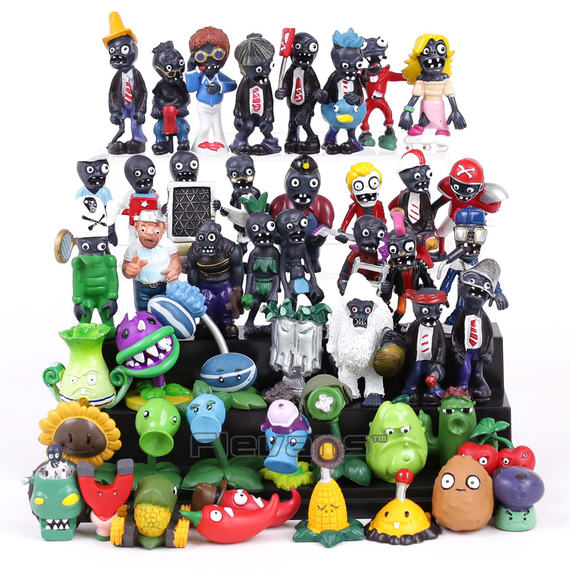 Hot Sale! New Popular Game PVZ Plants vs Zombies PVC Figures Collectible Model Toys Gifts 48pcs/lot image