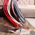 Fashion Colorful Simple MobilePhone Lanyard Men And Women General Short Wrist Rope Digital Camera Self Timer Lever Short Lanyard