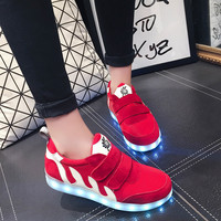 7 Colors Kids Sneakers With Backlight Glowing Sole Led Sneakers For Girls Luminous Sneakers With LEDs