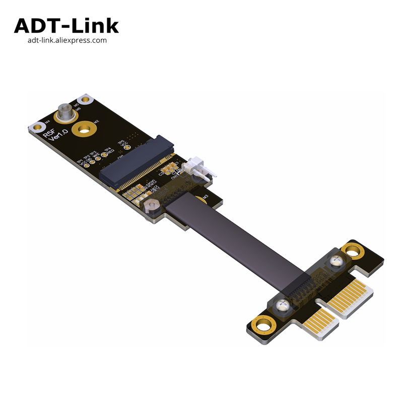 M.2 A.E. key WiFi To PCIe x1 Extender Adapter Riser Gen3.0 Wireless network Card Ribbon Cable M2 key AE A+E PCI-E 1x R15SF pci e 1x to 1x x1 slot riser card extender extension ribbon pcie flex relocate cable for bitcoin mining free shipping