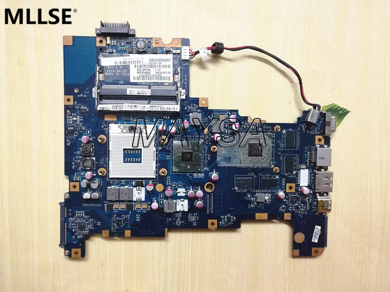High Quality K000103790 NALAA LA-6042P Main Board Fit For Toshiba L670 L675 hm55 s989 Motherboard, 100% working high quality main board fit for lenovo z585 notebook motherboard socket sf1 ddr3 dalz3bmb6e0 rev e 100% working