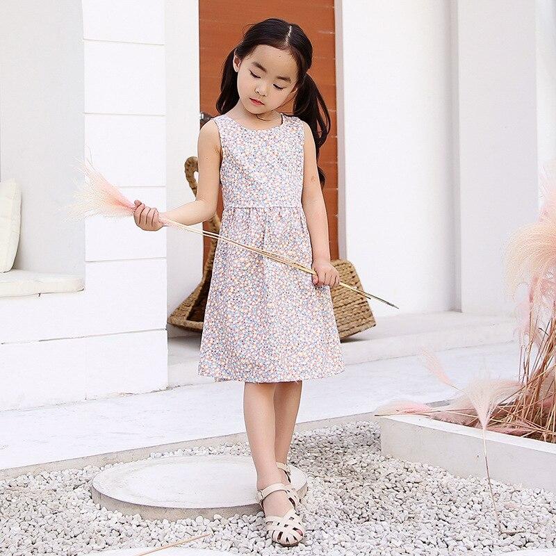 YHCQ 2019 Summer New Baby Dress Girls Cute Sweet Strap Dresses Cotton Children Fashion Soft Clothing