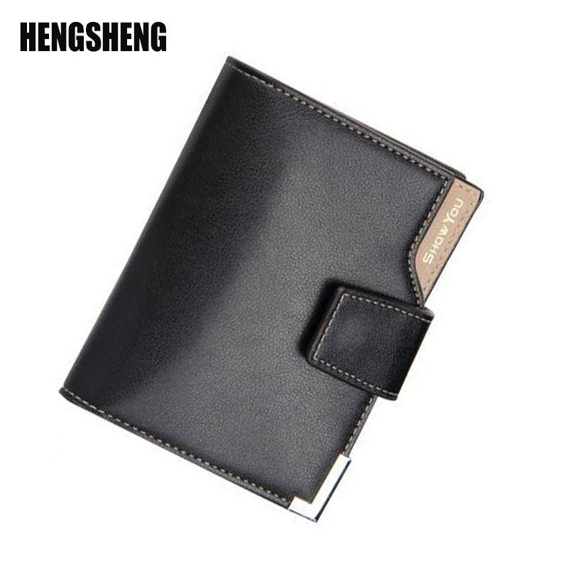 HENGSHENG Wallet Men Leather Men Wallets Purse Short Male Clutch Leather Wallet Mens Money Bag Card Holder Wallets Purse A4825 anime fairy tail wallet cosplay school students money bag children card holder case portefeuille homme purse wallets