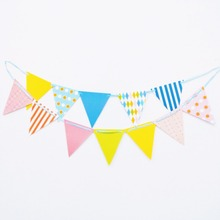 1pc/set Colour Graduation Party Pennant Bunting Birthday Party Flag Banners Kids Adult Birthday Party Supplies Decoration flag 1pc set moana party pennant bunting birthday party flag banners kids cartoon birthday party supplies decoration moana flag