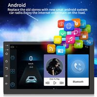 NEW 1Set Universal 7Inch Touch Screen Car Radio Multimedia Video MP5 Player Bluetooth GPS Map Navigator Auto Stereo Device