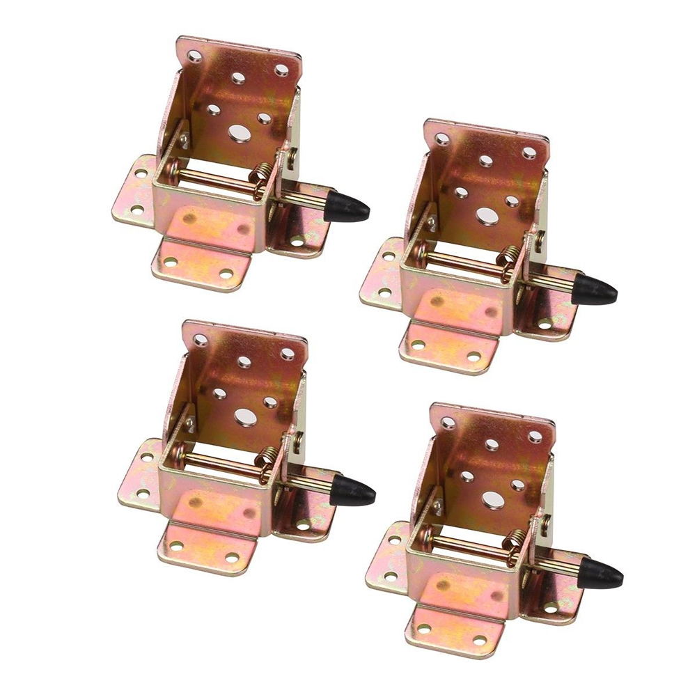 4 Stuks Been Beugels Vervanging Tafel Stoel Self Locking Side Brake Extension Opvouwbare Hardware Duurzaam 90 Graden Meubelen Scharnieren