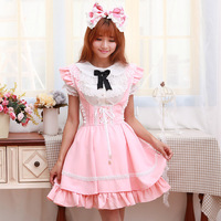 Navy Blue Pink 2016 New Summer Princess Jumper Skirt Lolita Classic Cute Japanese Ruffle Suspender Strap