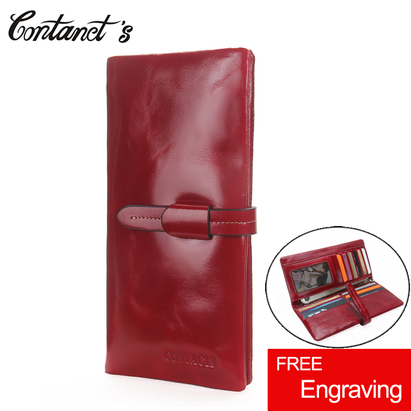 Wallet Women Luxury Brand Genuine Leather Female Clutch Wallets Long Hasp Ladies Purse Red Design Coin Pocket Carteira Feminina genuine leather wallet women luxury brand plaid coin purse female long clutch ladies leather wallets portfel damski portomonee