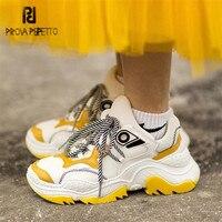 Prova Perfetto Для женщин кроссовки Кроссовки резиновой платформе женские повседневные туфли на плоской подошве tenis feminino Эспадрильи на плоской по