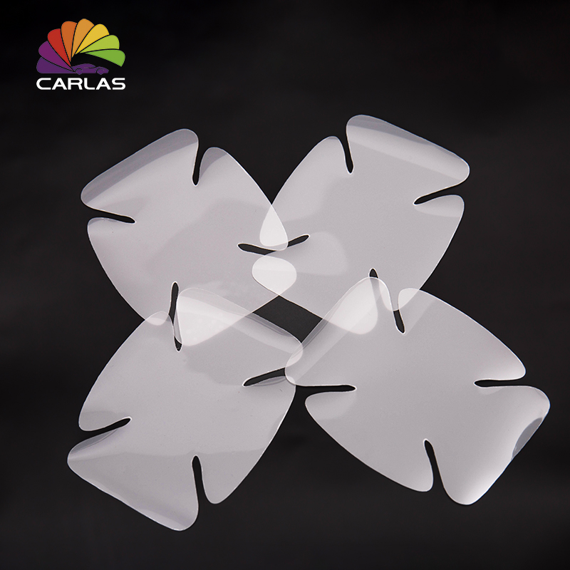 Image 5 - CARLAS 4Pcs/Lot Car Handle Protection Film Car Exterior Transparent Sticker Automotive Auto Accessories Car Styling Car sticker