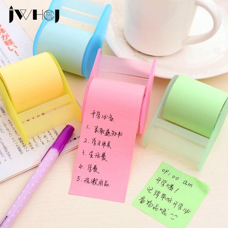1 pcs kertas neon stiker memo pad, Catatan tempel, Posting alat tulis kawaii, Perlengkapan sekolah escolar