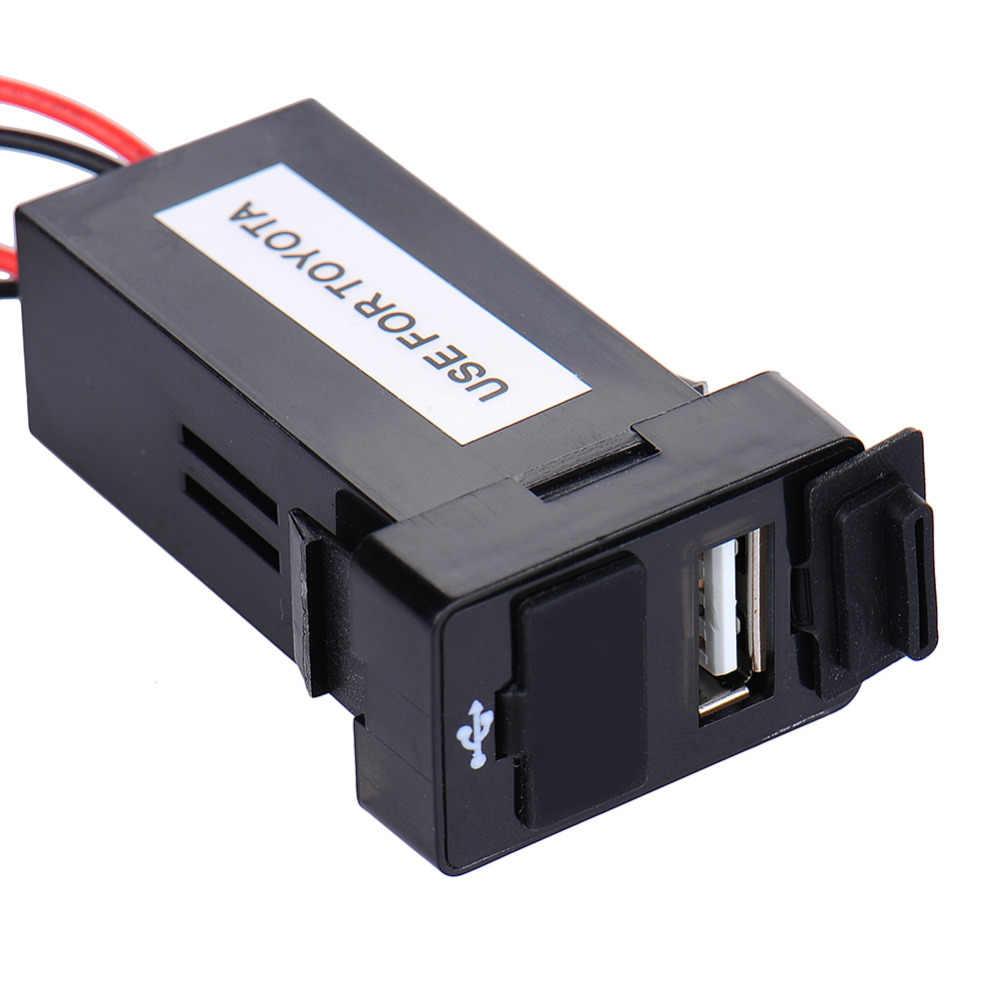 Профессиональное оригинальное автомобильное зарядное устройство с двойным USB 2,1 1 Ампер 5 В, только для ТОЙОТА Виго синего света аудио выход