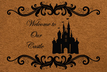 Welcome to Our Castle Doormat Entrance Floor Mat Decorative Indoor/Outdoor Door Non-Slip rubber