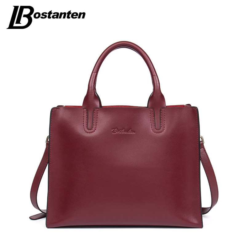 BOSTANTEN New Designer Split Leather Handbags Female Brand Women Bag Large Lady Crossbody Shoulder Bags Top-handle Bags Tote Sac epr car styling for mazda rx7 fc3s carbon fiber triangle glossy fibre interior side accessories racing trim