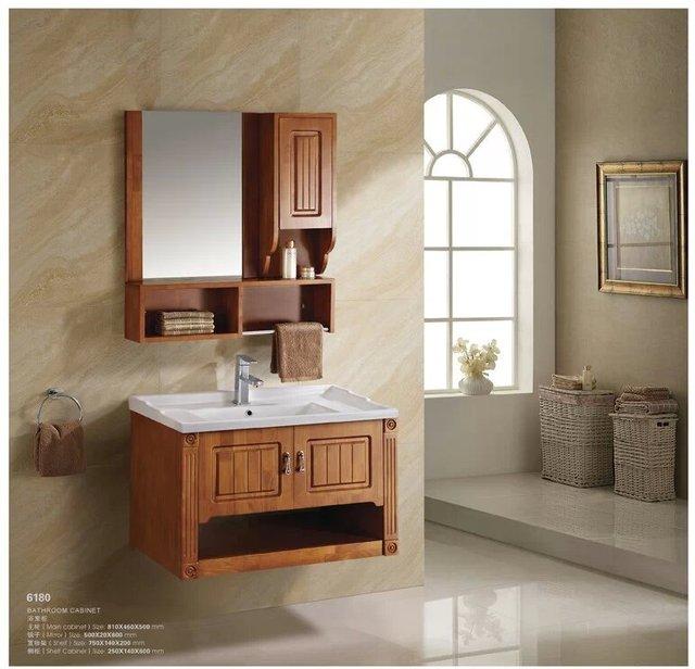 Vanidad de ba o roble ba o de madera ba o gabinete for Bajo gabinete tocador bano de madera