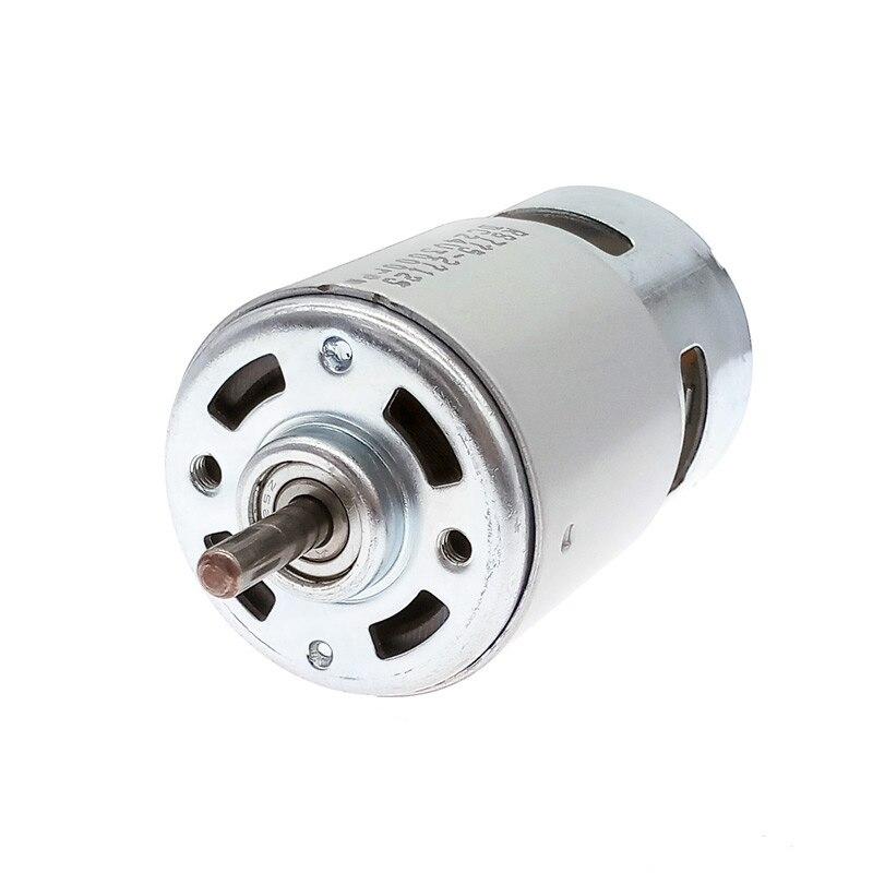 DC12V Motor 775 24V DC rodamiento de bolas doble rodamiento alto par bajo ruido