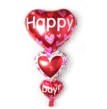 Hot Big Red Heart Foil Balloons Cartoon Happy Day Birthday Wedding Party Balloon Marry Valentine's Day Balloons Party Decoration