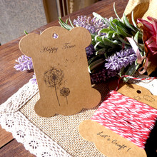 50pcs THICKEN Style Dandelion Retro Cardboard Kraft Bobine Spool, DIY Party Paper Cards Big size Gift Tag(China)