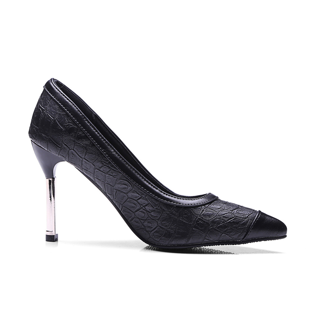 High Heels Black Thin Wine Shallow donne Big Heel Red Size Deep Red pumps Nuove Asumer Shoes Super Wine Primavera Prom Fashion Nero Autunno aTq6nf