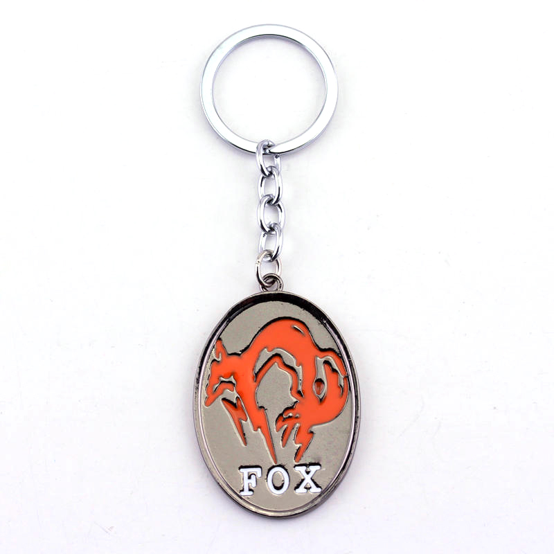Hot Sale Online Game Metal Gear Solid V The Phantom Pain Fox Unit Logo Metal keychain