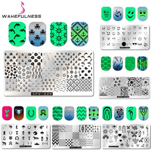 1pcs Ocean Element Rectangle Nail Art Stamping Plates Image Stamping Nail Art Stencils Manicure Template Stamp Tools