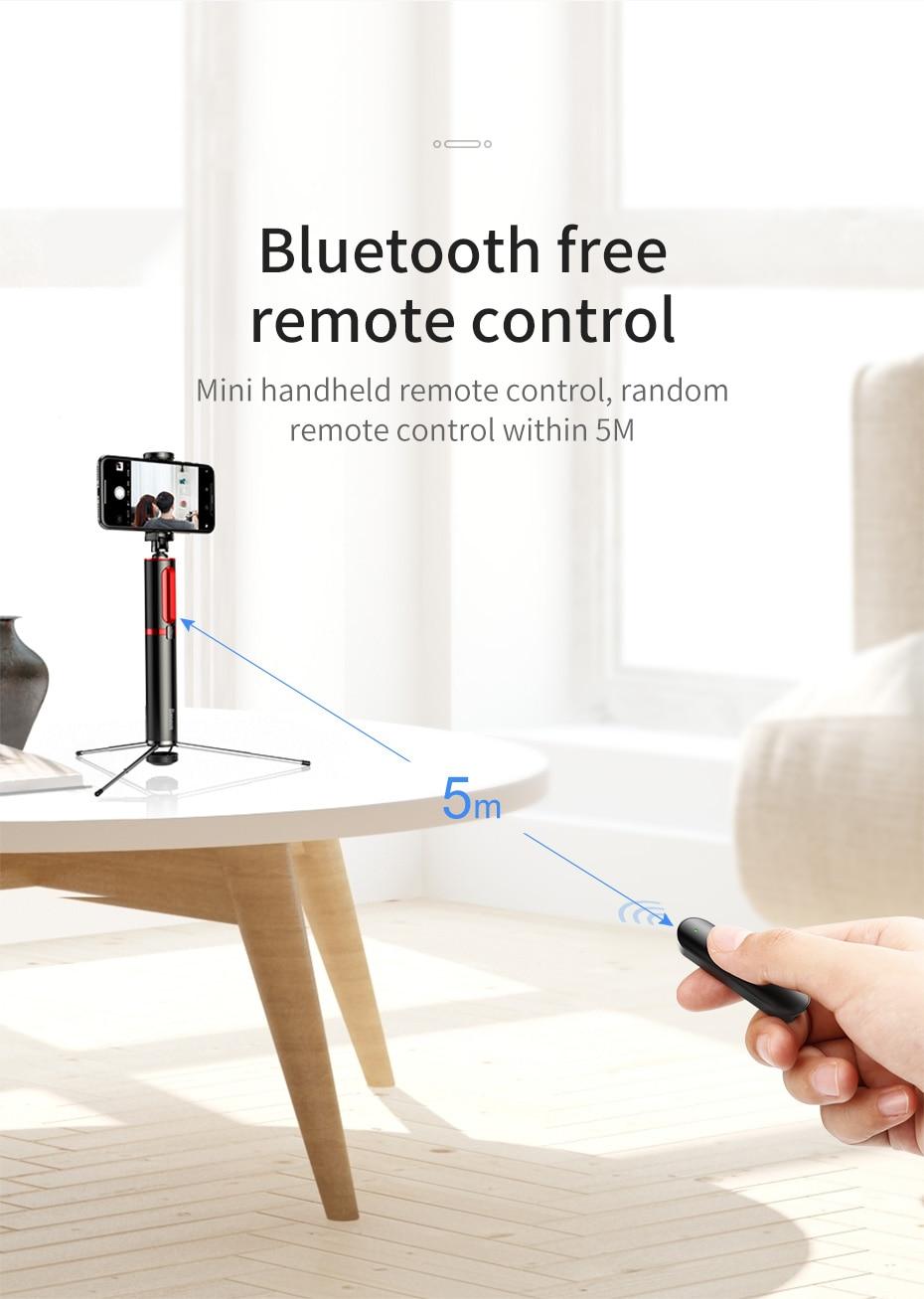 Baseus Portable Bluetooth Selfie Stick with Wireless Remote