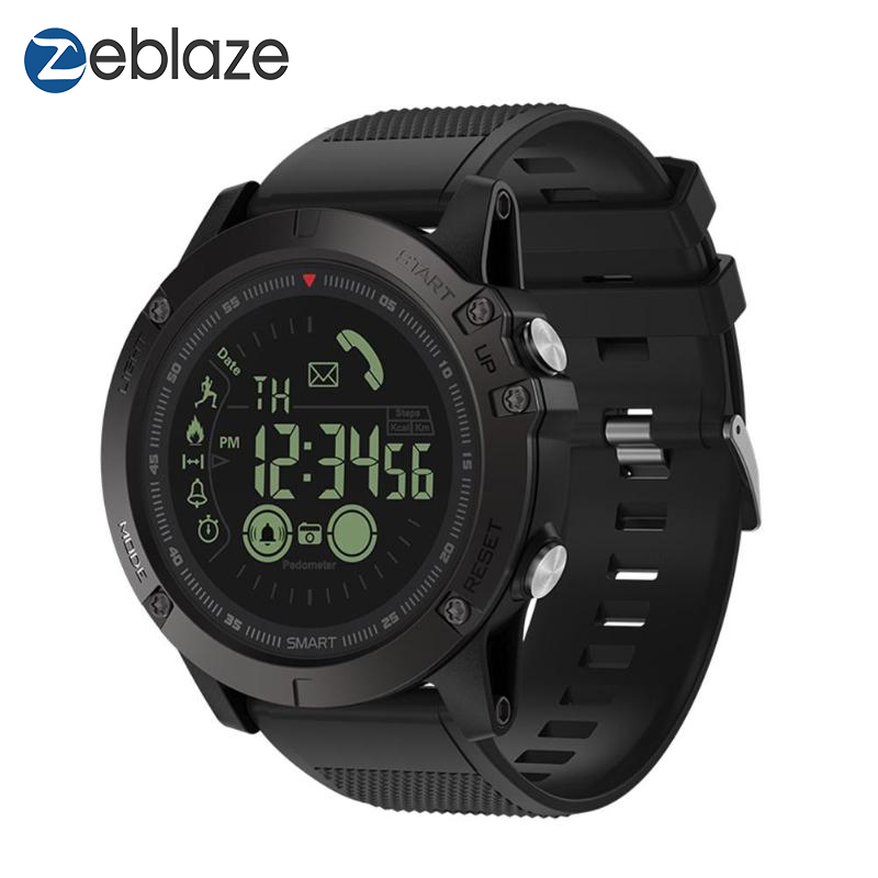 Nova Zeblaze VIBE 3 Flagship Robusto Smartwatch 33-mês Tempo de Espera 24 h All-Weather Monitoramento Relógio Inteligente para IOS E Android
