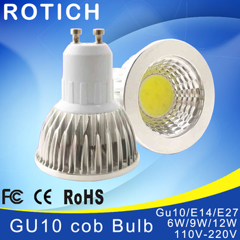 Super Bright GU 10 Bulbs Light Dimmable Led Warm/White 85-265V 5W 7W 10W GU10 COB LED lamp light GU 10 led Spotlight image