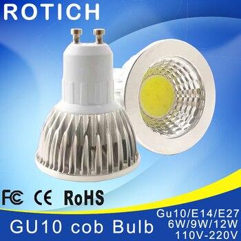 Super Bright GU 10 Bulbs Light Dimmable Led Warm/White 85-265V 5W 7W 10W GU10 COB LED lamp light GU 10 led Spotlight