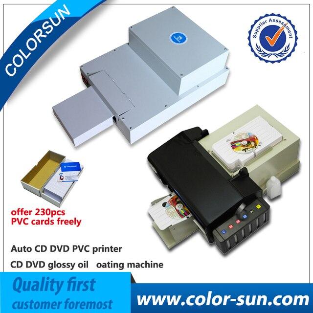 Дешевые авто CD DVD ПВХ принтер с 1 компл. глянцевая масла машинного нанесения Doggy продажа