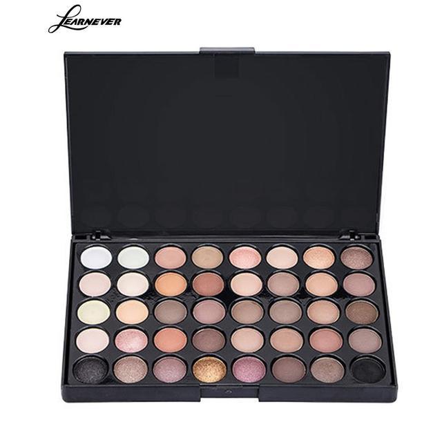 Профессиональный 40 Цвета макияж глаз матовый блеск для век Diamond мерцание глаз праймер световой палитры теней Для женщин подарок