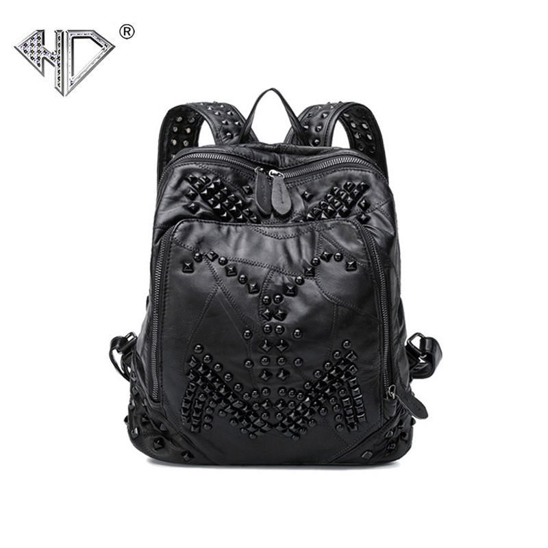 Women Backpack High Quality Youth sheep Leather Backpacks for Teenage Girls Female Package School Shoulder Bag Bagpack mochila 2016new rucksack luxury backpack youth school bags for girls genuine leather black shoulder backpacks women bag mochila feminina