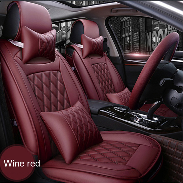 Front Rear Luxury Leather Car Seat Covers For Audi A6l R8 Q3 Q5