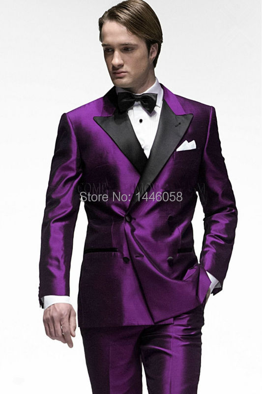 Popular Purple Double Breasted Suit-Buy Cheap Purple Double