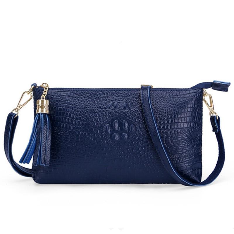 04f6632f5 Promoção sacos de bolsas de couro das mulheres saco do mensageiro franja  verde feminino de luxo crocodilo borla corpo cruz bolsa de mulher sacos em  Bolsas ...