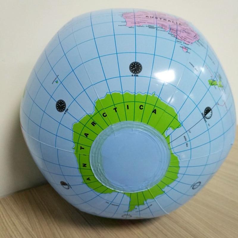 1 шт. 30 см надувной глобус мир Земля Карта океана мяч детские игрушки для обучения по географии развивающие инструменты офисные принадлежности