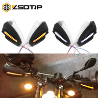 ZSDTRP Motorcycle led Hand Guard Shield Windproof Motorbike Motocross Universal Protector Modification Protective Gear
