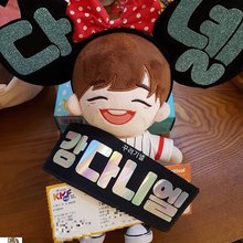 mini kpop slogan customized double sided suede laser doll small hand banner  printing