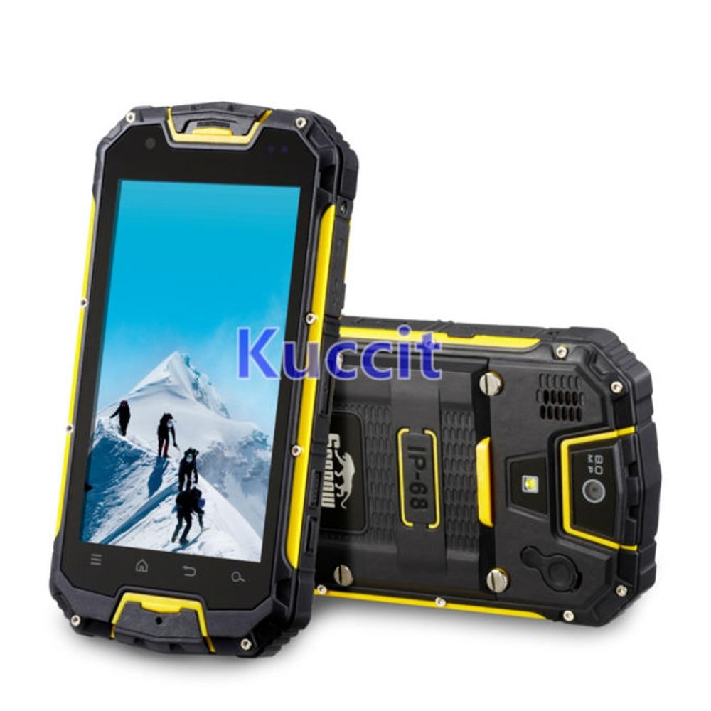 original M9 M8 Shockproof Android PTT Radio Walkie talkie MTK6582 IP68 rugged Waterproof phone GPS 3G 4700mAH Battery
