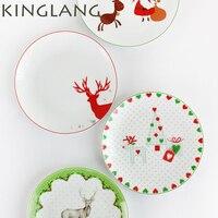 2016 NEW CHEAP Free Shipping Christmas Day Dinner Plate Ceramic Steak Dish Procelain Tableware