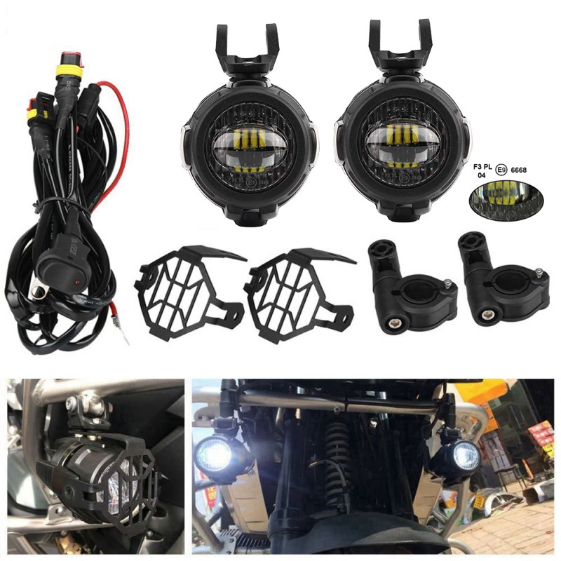 FADUIES For BMW Motorcycle LED Auxiliary Fog Light Driving Lamp Motocycle Fog Lights For BMW R1200GS ADV K1600 R1200GS R1100GS