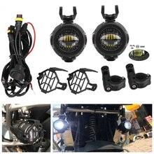 Faduies luz auxiliar para motocicleta, para bmw luz de led para névoa auxiliar para motocicleta para bmw r1200gs/adv k1600 r1200gs r1100gs