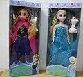 2016 nuevas llegadas disny juguetes elsa y la princesa anna olaf muñeca 30 cm brinquedos boneca 4 unids princesa regalos toys para las niñas